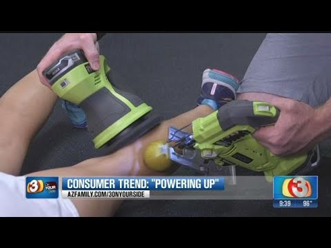 3 on your side: using power tools to massage sore muscles -