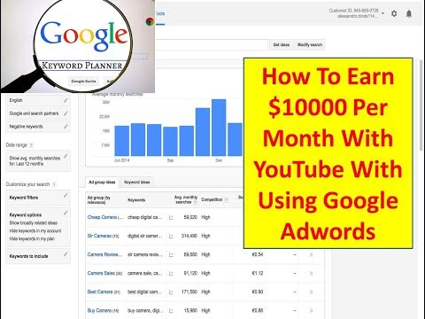 How To Use Google Adwords To Earn $10000 Per Month