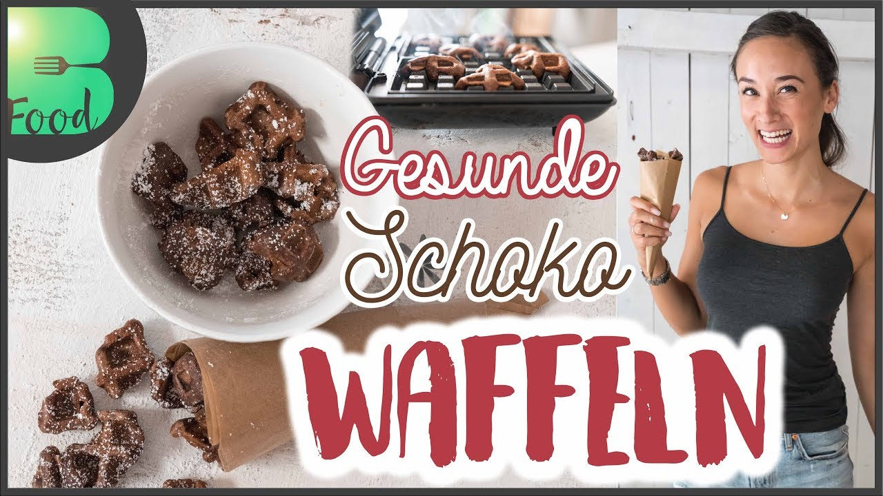 schoko waffeln bestes rezept gesunder snack vegan kalorienarm youtube. Black Bedroom Furniture Sets. Home Design Ideas