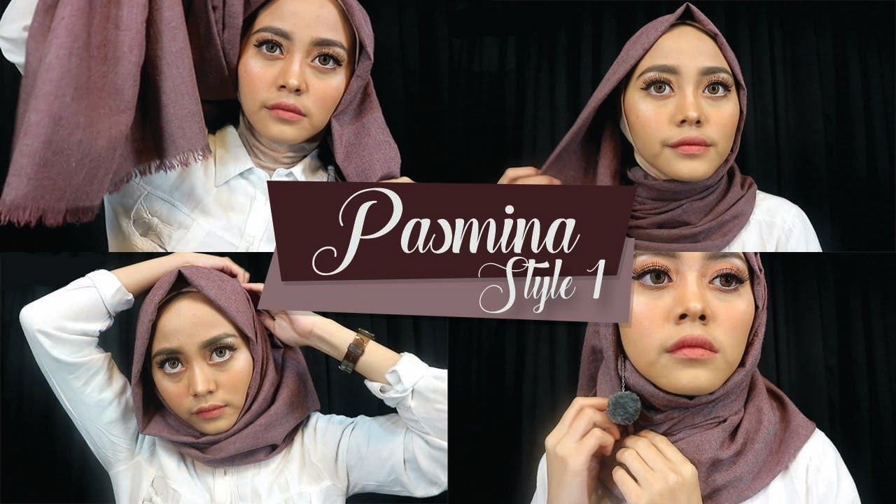 tutorial hijab pasmina - simple look