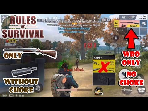 WRO only challenge, without a CHOKE! [ Rules of Survival ]