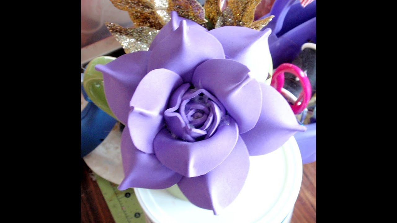how to make foam flower  diy  tutorial