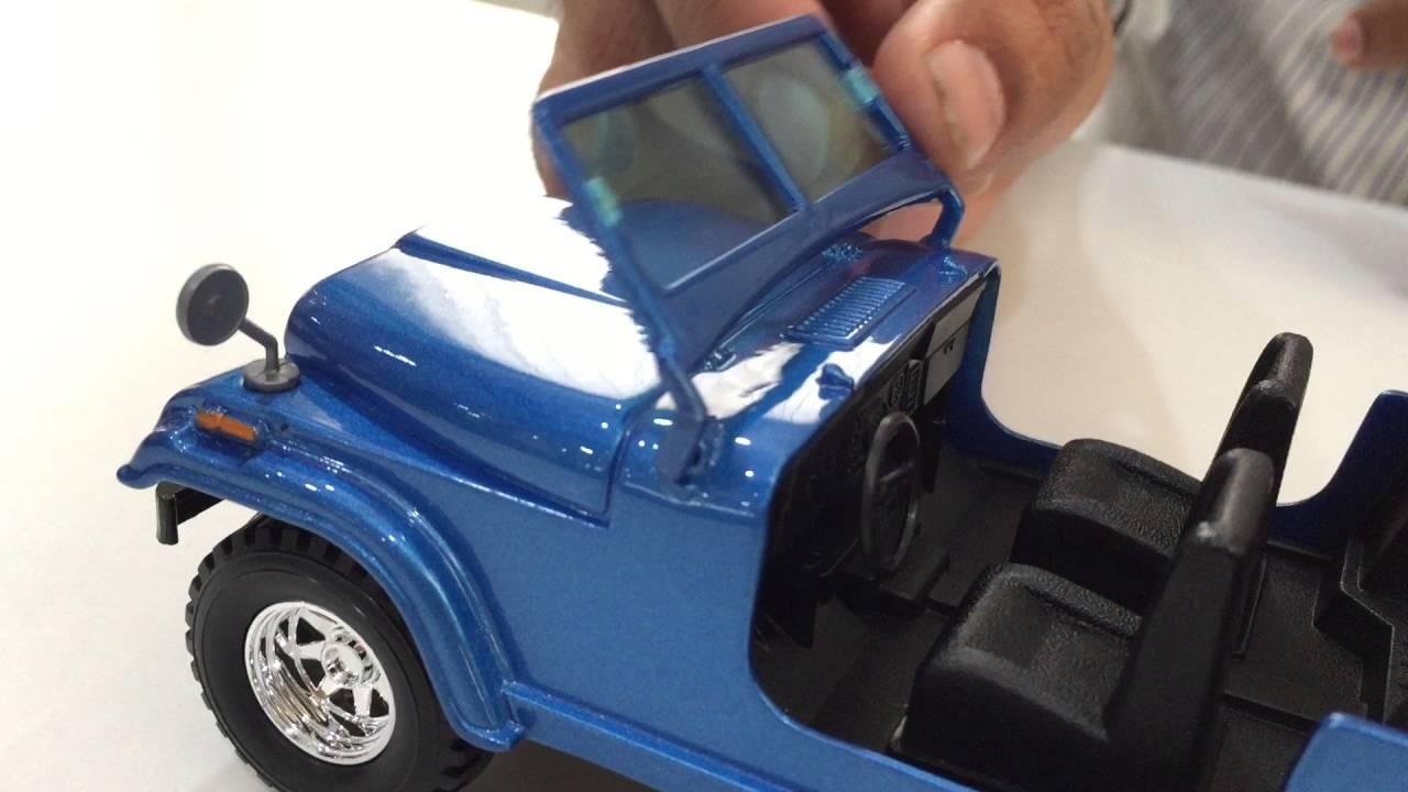 bburago jeep wrangler 1:24 diecast model review- hobbytoys.co - youtube