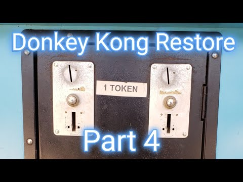 Donkey Kong Arcade Restore Part 4 -  Coin Door, Electrical Plug, Locks, And Coin Stickers