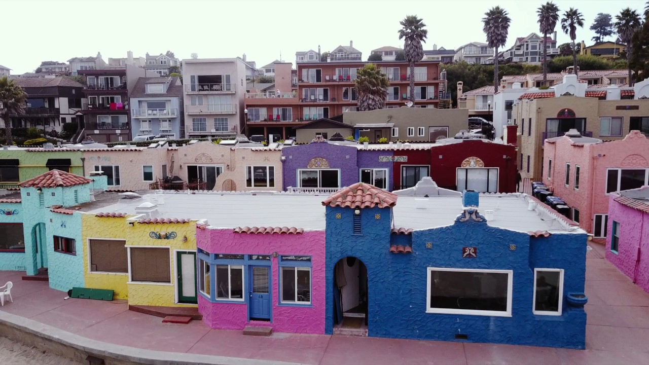 Colorful Houses In Capitola California Jomlyn