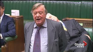 Debate on Brexit in the British House of Commons puts member to sleep