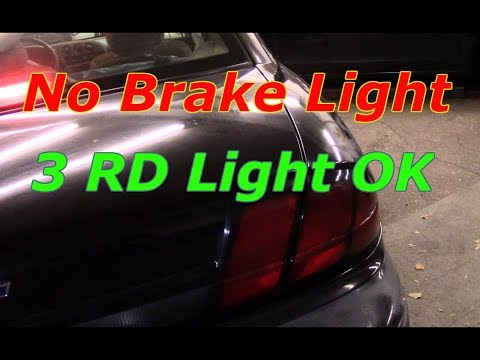 Diagnose and repair no brake lights (3rd brake light works