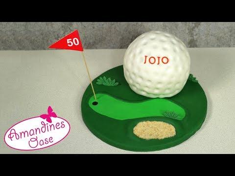 Golfball Torte | Fondant Golf Torte | Kugeltorte als Golfball | golf cake