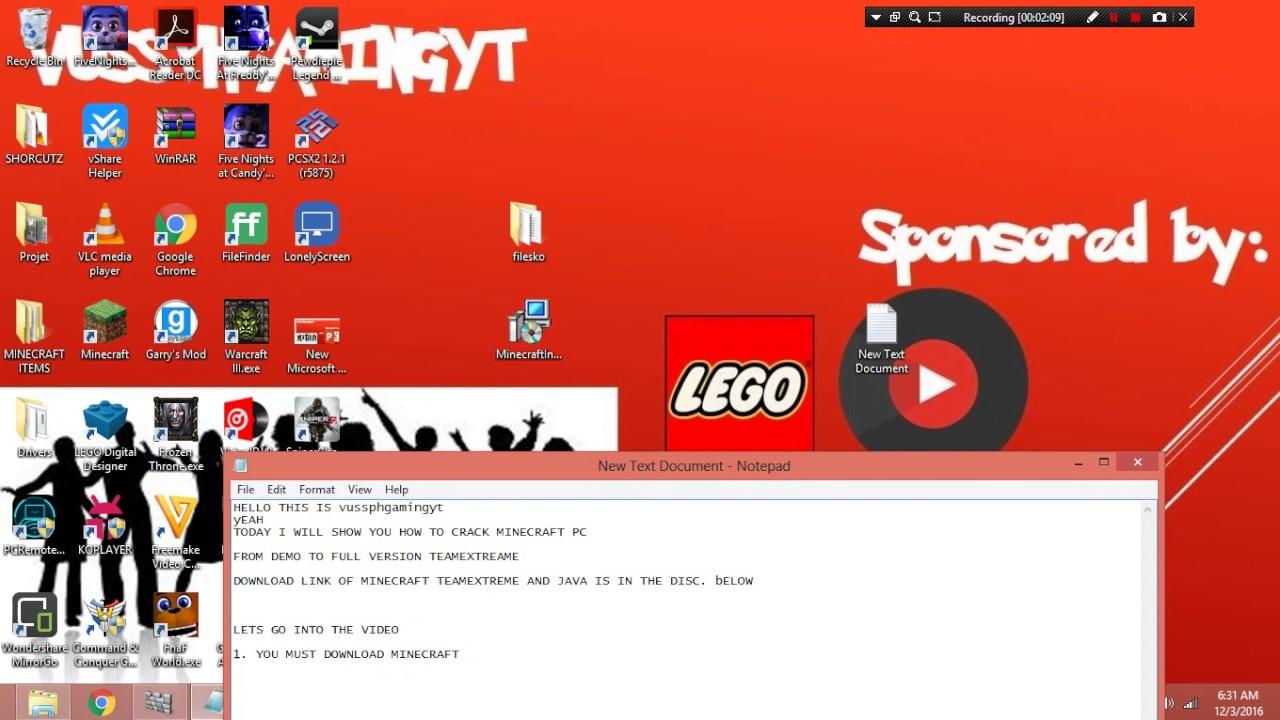How To Crack Minecraft PC To Full Version YouTube - Minecraft cracked server erstellen ohne hamachi 1 8