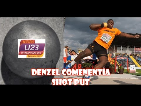 Denzel Comenentia (Netherlands) 19.87 METERS SHOT PUT 2017 EK U23.