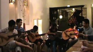 Dat Viet Got Talent - Anh Khoa Music - Rhythm Of The Rain - Guitar Group Performance - Đêm Bán Kết