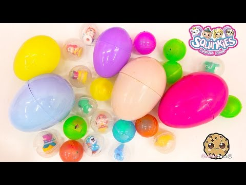 Squinkies Surprise Inside Blind Bag Balls And Mystery Toy Eggs Unboxing Cookieswirlc Video