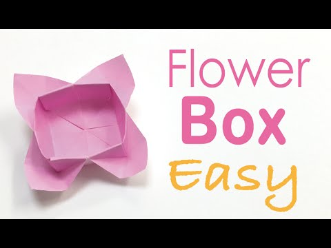 Easy origami paper flower box tutorial origami kawaii053 easy origami paper flower box tutorial origami kawaii053 mightylinksfo Choice Image