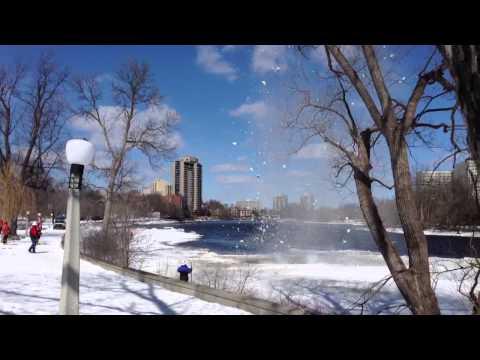 Sandy hill ice blasting