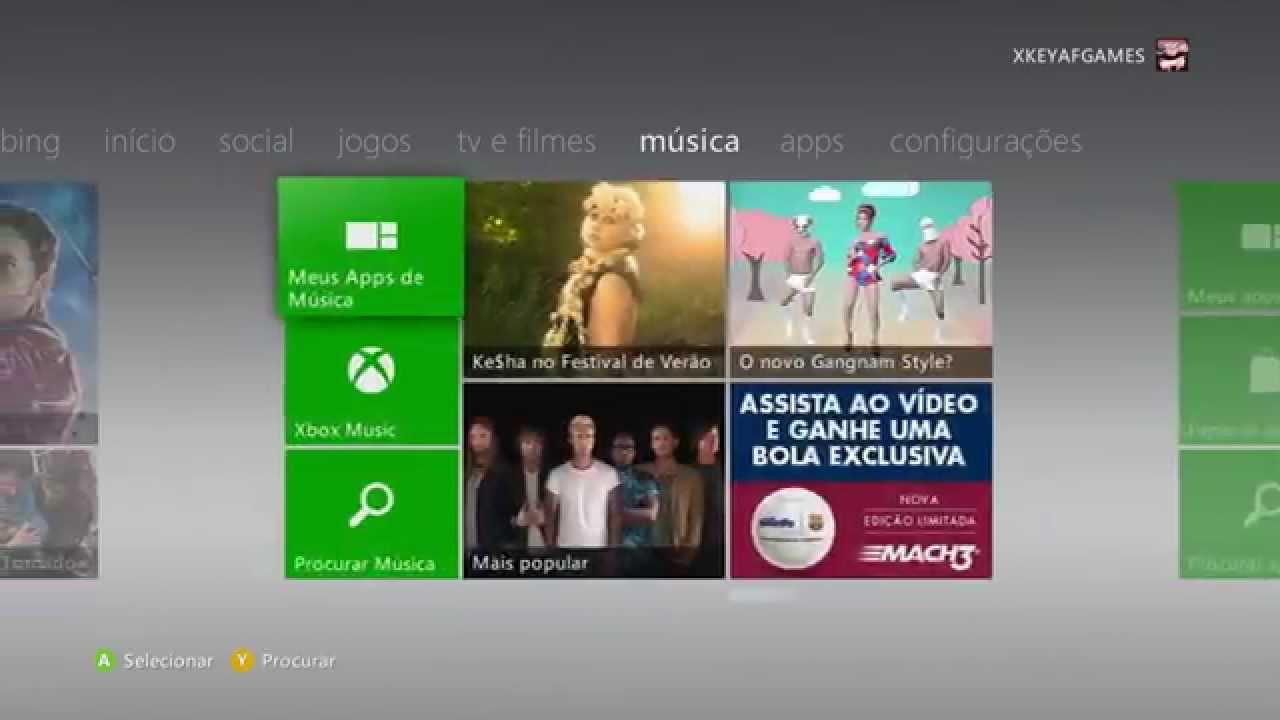 Desbl  XKey Xbox 360 2014/2015 Live e Jogos no HD (dash 17511)