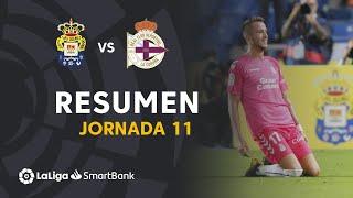 Resumen de UD Las Palmas vs RC Deportivo (3-0)