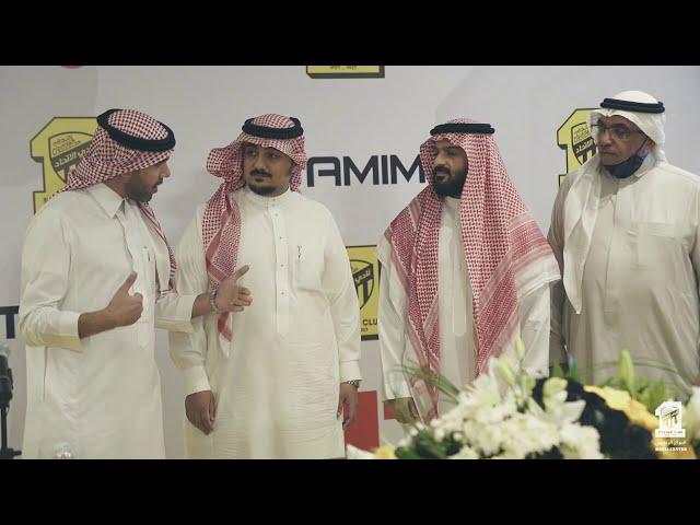 كواليس حفل توقيع الاتحاد مع شركة تميم للرياضة