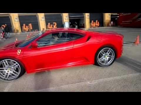 Malek driving Ferrari F340 F1 - YouTube