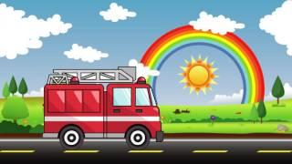 Обучение Транспортные средства с Звуки Полиция Пожарная машина экскаватор  - дети России