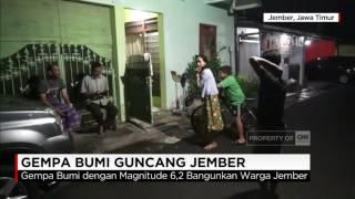 Gempa 6,2 SR Guncang Jember