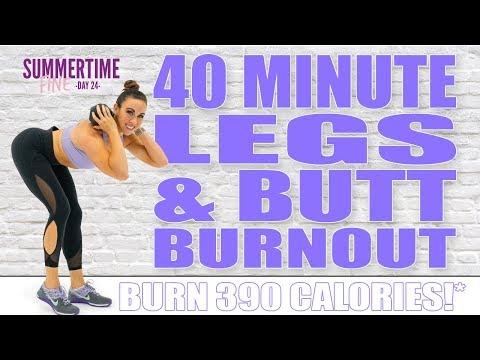 40 Minute LEGS AND BUTT BURNOUT WORKOUT! 🔥Burn 390 Calories!* 🔥Sydney Cummings