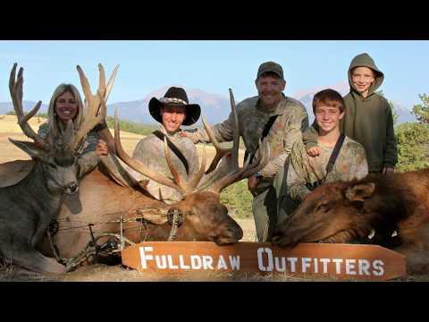 Trophy Elk, Trophy Mule Deer, And A Cow Elk In One Sit