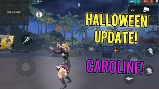 Caroline Gameplay + Emotes! (Halloween Update) - Garena Free Fire