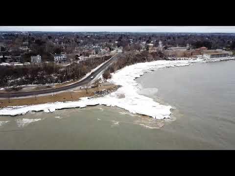 February 23, 2018/240 Sheboygan shoreline Lake Michigan