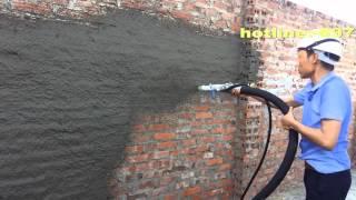 máy phun vữa P40c,máy phun vữa P40B - I,may phun vua,máy phun vữa trát tường,máy tô vữa tường