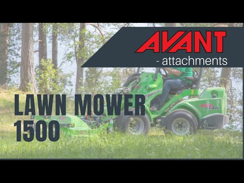 Lawn Mower 1500, Avant 300-700 Series attachment