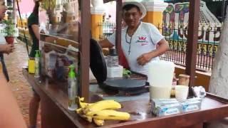 Մեքսիկական բլիթներ Վալադոլիդ , Making pancake Valladolid, Mexico, Мексиканские блины Вальядолид
