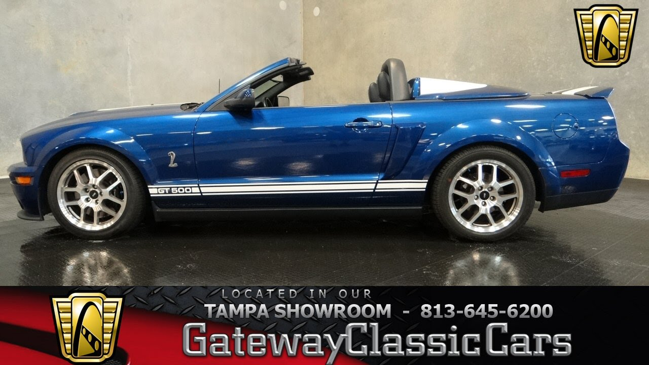 2007 Ford Mustang Shelby GT convertible - YouTube