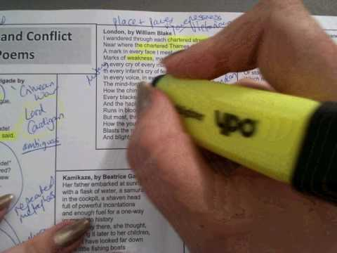 Recap of ALL AQA Power and Conflict poems