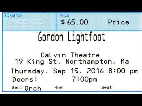 Gordon Lightfoot Calvin Theater Northampton, Massachusetts September 15, 2016