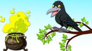 Thirsty Crow moral story for kids  Pyasa Kauwa  తెలివైన కాకి తెలుగు కథ   3D  English bedtime Stories