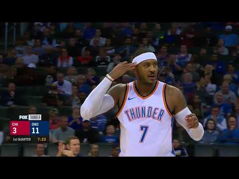 Carmelo Anthony Highlights 18  Pts Vs Chicago Bulls 16 11 17