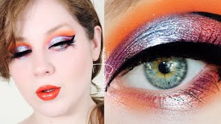 Revolution Birds of PARADISE Orange Blue Makeup Tutorial 2021 | Lillee Jean