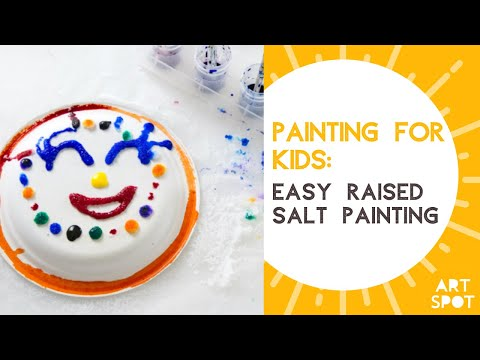 Raised Salt Painting - A Super Fun Art Technique For Kids That Involves Painting With Glue And Salt