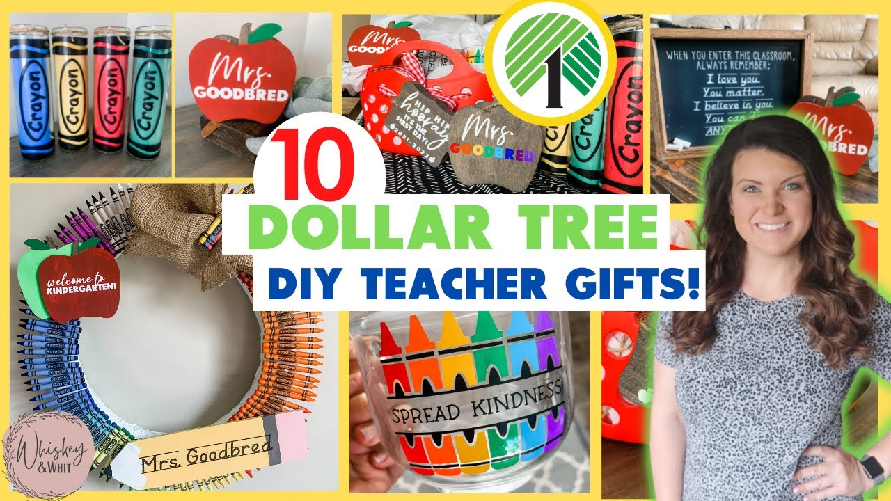 10 CHEAP + AMAZING Dollar Tree DIY Cricut Teacher Gifts 🍎Great for Back to School or Christmas!