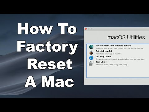 How To Erase & Factory Reset A Mac & Reinstall MacOS - Step By Step Guide