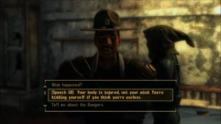 Fallout - New Vegas Ranger Takedown unarmed perk with Pushy displacer glove
