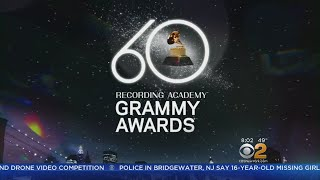 Stage Set For 60th Annual GRAMMY Awards At Madison Square Garden