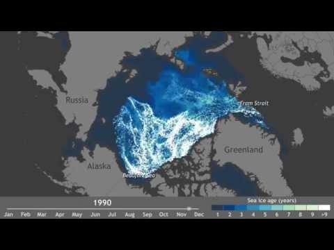Arctic ice age, 1987-2014