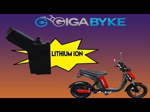 GigaByke Groove E-Bike Lithium Ion Battery VS Silicone Acid Battery