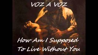 VOZ A VOZ - How Am I Supposed To Live Without You