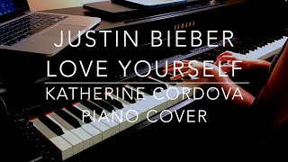 Download Justin Bieber - Love Yourself (HQ piano cover) MP3 song and Music Video