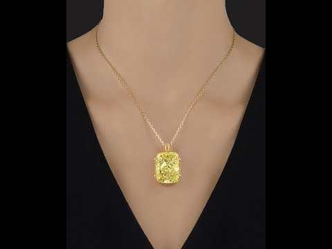 Fancy Vivid Yellow Diamond, over 40 Carats from M.S. Rau Antiques