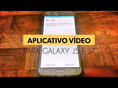 Aplicativo Vídeo para Galaxy J7,J5 e J3 como instalar o Apk Video Samsung