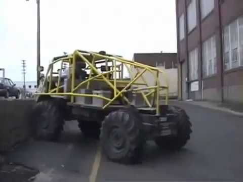 Offroad Vehicle Climbs Wall