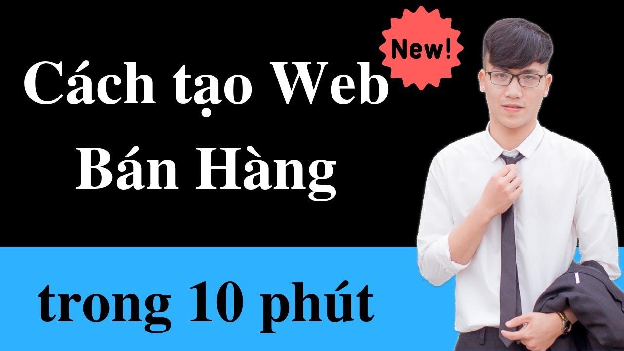 Cách tạo Website bán hàng trong 10 phút